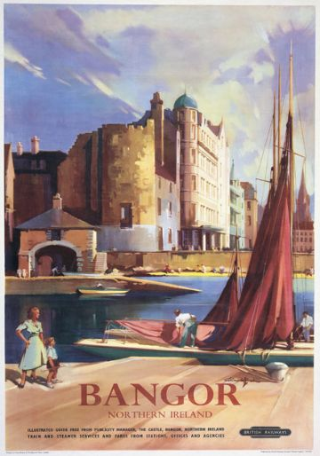 Bangor, County Down, Northern Ireland. Vintage Irish Travel Poster by Claude Buckle